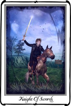 Tarot- Knight of Swords by azurylipfe on deviantART
