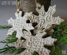 rustic christmas tree | Items similar to Rustic White Snowflake Christmas Tree Ornaments on ...