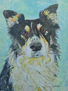PRIVATE COLLECTION, dog commission, mutt commission, watercolor, canine