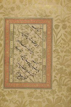 Babür # Kaligrafi Dara Shikuh albümünden'Abd al-Rahim'Anbarin Kalem tarafından # BLAddOr3129 f28v   # MughalMonday