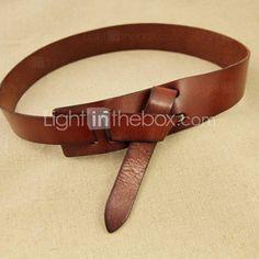 de cuero rústico cinturón de lazo informal (más colores)