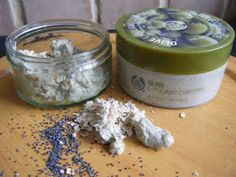 """Make your own """"Body Shop Olive Exfoliating Scrub"""". Note: 350 grams = ounces and 50 grams = ~ 2 ounces (not exactly, but close enough for government work). Homemade Body Care, Homemade Beauty Recipes, Natural Beauty Recipes, Homemade Scrub, Health And Beauty Tips, Diy Body Scrub, Diy Scrub, Beauty Secrets, Beauty Tricks"""