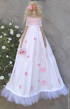 Купить Кукла тильда Lente - бледно-розовый, tilda, кукла Тильда, 100% хлопок