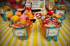 Cake pops at a Dr. Seuss Party #drseuss #partycakepops