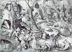 """""""La Gula"""" Pieter Brueghel, el Viejo. Hacia 1568."""