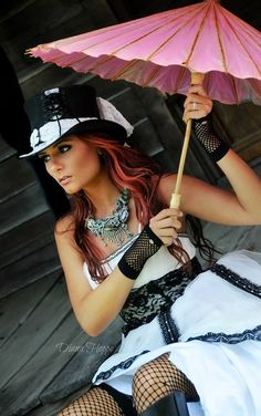 Sexy outfit with steampunk hats. See more at headnhome.com