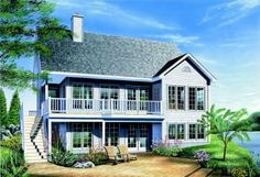 Modern Farmhouse Plan: 1,257 Square Feet, 2 Bedrooms, 2 Bathrooms - 041-00227 Guest House Plans, Bungalow House Plans, Cottage House Plans, New House Plans, Small House Plans, Small Farmhouse Plans, Drummond House Plans, Open Living Area, Build Your Dream Home