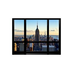 Window View, View Towards Downtown at Sunset, Manhattan, Hudson River,... (77 BAM) ❤ liked on Polyvore featuring home, home decor, wall art, entertainment, science fiction tv shows, television, tv genres, photography wall art, window poster and window wall art