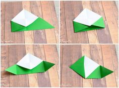 Tree Corner Bookmarks - Origami for Kids Christmas Tree Corner Bookmarks - Origami for Kids - Easy Peasy and FunChristmas Tree Corner Bookmarks - Origami for Kids - Easy Peasy and Fun Origami Tree, Cute Origami, Origami Star Box, Origami Fish, Oragami Christmas Tree, Christmas Trees For Kids, Christmas Gifts To Make, Christmas Decorations, Xmas