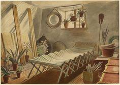 \♥/♥\♥/ : The Attic Bedroom : Eric Ravilious