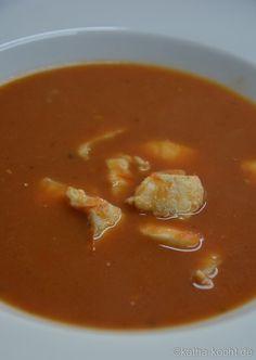 Tomaten Fischsuppe mit Steinbeißer - Katha-kocht!
