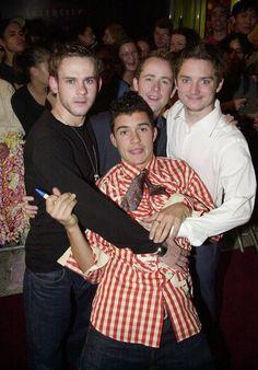 Dominic Monaghan, Orlando Bloom, Billy Boyd, and Elijah Wood