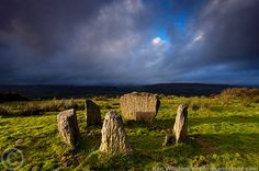 Megalithic stone circle and cairn high above the small village of Kealkill, Cork, Ireland .,, overlooking Bantry Bay to the west and the lowlands and mountains that make West Cork famous.