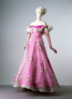 Schiaperelli | c. 1953     The dress was worn by the Duchess of Devonshire. It forms part of the Cecil Beaton Collection