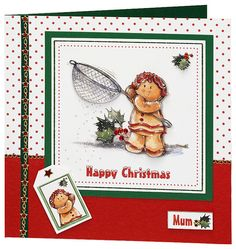 Craft Creations die cut decoupage - DCD567 - Gingerbread Woman