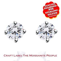 """100% Genuine 1/20 Ct Genuine Diamond 14K Gold Solitaire Stud Earrings """"Mother\'s Day Gift"""". Starting at $32"""
