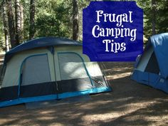 Camping is already frugal but you can make it more so with these frugal camping tips! View on BargainBriana.com