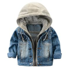 Cheap kids jacket for boys, Buy Quality kids fashion jackets directly from China kids jacket Suppliers: Fashion Denim baby Boys Children outerwear coat fashion kids jackets for Boy girls jacket hooded Spring Autumn children clothing Fashion Kids, Toddler Boy Fashion, Toddler Boy Outfits, Kids Outfits Girls, Baby Outfits, Toddler Boy Coats, Toddler Boy Style, Baby Boy Style, Latest Fashion