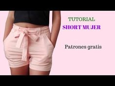 DIY Como hacer un short mujer corte y confeccin Sewing Shorts, Diy Shorts, Sport Shorts, Sewing Clothes, Gym Shorts Womens, Dress Patterns, Sewing Patterns, Shorts Tutorial, Chor