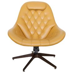Swivel Lounge Chair + Ottoman by George Mulhauser for Plycraft