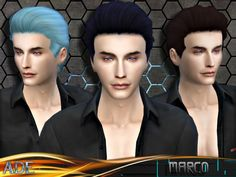 Sims 4 CC's - The Best: Male Hair by Ade_Darma