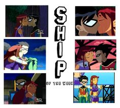 """""""Starfire and Robin ~ ship of the week"""" by thisonegirlisbusy on Polyvore featuring art"""