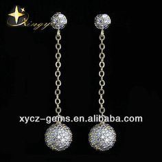 Crystal cz ball 925 silver drop earrings  1.yellow gold plated,fancy shape  2.925 sterling silver  3.Gold supplier  4.OEM 925 Silver, Sterling Silver, Silver Drop Earrings, Oem, Plating, Fancy, Ceiling Lights, Shapes, Crystals