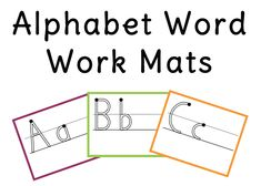 "FREE LANGUAGE ARTS LESSON - ""Alphabet Word Work Mats"" - Use mats with crayons, markers, wikki stix, molding dough, shaving cream, etc.   Go to The Best of Teacher Entrepreneurs for this and hundreds of free lessons. http://thebestofteacherentrepreneurs.blogspot.com/2013/02/free-language-arts-lesson-alphabet-word.html"