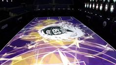 I wanna play in this basketball court!!! - Introducing the Nike RISE 'House of Mamba' LED court
