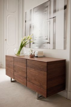 Colzani Riga Sideboard Collection - Chest of drawers with frame in solid canaletta walnut with four drawers. Furniture Design, Interior Furniture, Furniture Decor, Furniture, Sideboard Styles, Luxury Sideboard, House Interior, Home Decor Furniture, Sideboard Designs