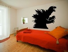GODZILLA SHADOW GOJIRA KAIJU JAPAN WALL ART DECOR DECAL #Oracal #Asian