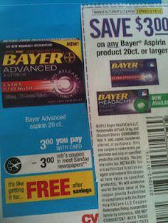 Free Bayer Aspirin 20ct. at CVS! (after coupon)