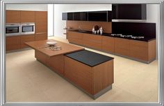 Awesome 25 Modern Kitchens In Wooden Finish : 25 Modern Kitchens In Wooden Finish With White Black Wall And Wooden Kitchen Island Table Stove Oven Cabinet And Brown Ceramic Flooring Pink Kitchen Designs, Modern Kitchen Design, Modern Design, Kitchen Island Table, Modern Kitchen Island, Kitchen Cabinets, Kitchen Faucets, Kitchenette, Wooden Kitchen