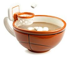 The Mug With A Hoop at Kitchen Appliances Lists Products - this original basketball hoop mug by maxis creations is a great gift for kids and adult basketball fans unique patented sports mug design lets you toss marshmallows into hot cocoa cereal into milk Creative Gifts For Boyfriend, Great Gifts For Guys, Birthday Gifts For Boyfriend, Cool Gifts, Gifts For Him, Best Gifts, Unique Gifts, Gag Gifts, Awesome Gifts