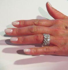 Wide Diamond Wedding Band | White gold, Vintage and Diamond ...