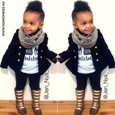 If I had a little girl I'd soooo dress her like this...sooo cute!