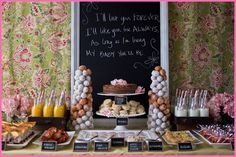 brunch baby shower or bridal shower