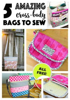 3e5cf666c2be 5 Amazing Cross Body Bag Patterns to Sew Right Now! — SewCanShe