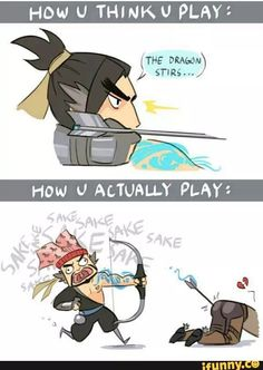 I'm bad Hanzo player and this is honestly true.