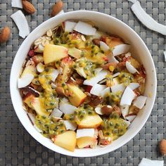 Peach and Passion Fruit Bowl