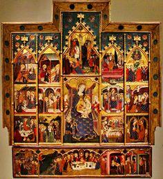 Retablo del monasterio de Sigena (Huesca) - Altarpiece of the Virgin of Sigena - Hermanos Serra - Museo de Arte de Cataluña.