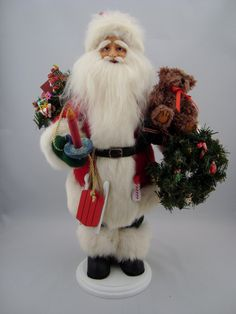 "Santa Claus - Santa Claus Doll - 20"" Tall - pinned by pin4etsy.com"