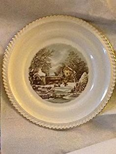 Amazon.com: currier and ives dishes: Home & Kitchen Vintage Plates, Vintage Dishes, Currier And Ives, Home Kitchens, Amazon, Vintage Signs, Riding Habit, Kitchen