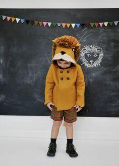 Child's Ferocious Felt Lion Coat - Littlegoodall l #handmade #woolfelt