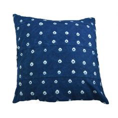 Dassie Jojo Tie Dye Indigo Scatter Cushion Cover: Stunning Jojo Tie Dye Indigo Scatter Cushion Cover.  This bohemian cushion cover has been hand-loomed by talented artisans.  Each indigo cushion has a distinctive tie dye finish.  As with all handmade items, slight size and colour variations may occur.   Any imperfections are part of the artisanal appeal and should be embraced.