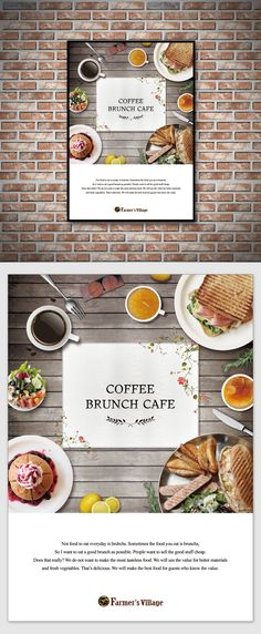 Brunch Cafe Poster Design