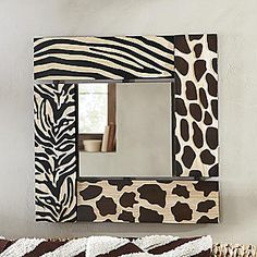 Animal print mirror from seventh avenue safari nursery decor animal nursery printa quote nursery print peekaboo nursery safari animal safari nursery neutral nursery prints Animal Print Bathroom, Animal Print Rooms, Animal Print Furniture, Animal Print Decor, Animal Prints, Safari Bathroom, Safari Home Decor, Safari Room, African Interior