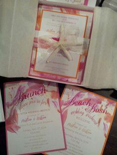 Beach wedding invites