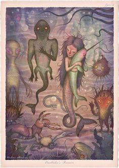 Tales of the Sea: Illustrator creates series of fantastical marine-based characters   Creative Boom. Vladimir Stankovic. Drawing Painting Images, Art Drawings, Art Psychology, Childhood Fears, Sea Illustration, Pop Surrealism, Little Monsters, Fractal Art, Sea Creatures