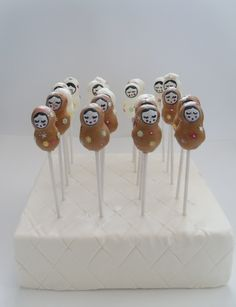 Russian Doll Cake pops for a hen party